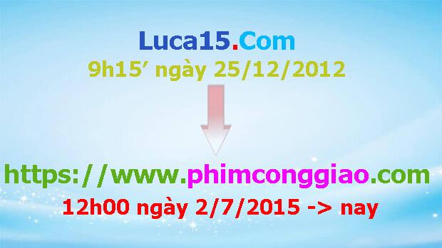 Thông báo chuyển tên miền website sang phimconggiao.com