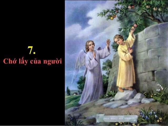 Bài 36 – Điều răn VII: Chớ lấy của người